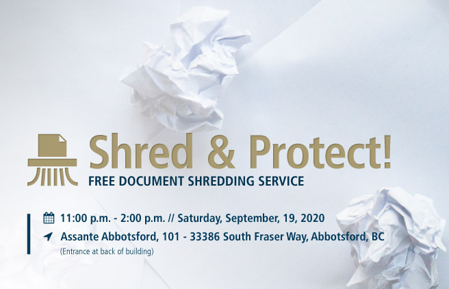 Shred & Protect community shredding event Abbotsford